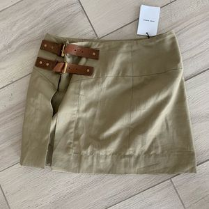 Isabel maranta tan mini safari skirt